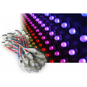 <p>Multi-colored LED governed by an electronic control unit</p>