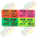 Codice B.30/60000/AVIO - RECTANGULAR PLASTIC TOKEN 30 X 60mm FOR MINIFLIGHT RIDE STANDARD - PRINTED IN ITALIAN