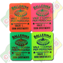 Codice B.45/60006/BALL - 45 X 60 X1,9mm PLASTIC TICKET STANDARD FOR BALLERINA RIDE - PRINTED IN ITALIAN