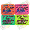Codice B.45/60006/KAFF - 45 X 60 X1,9mm PLASTIC TICKET STANDARD FOR KAFFE TASSE RIDE