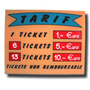 Codice ES009 - TARIF -  TICKET